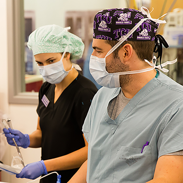 TCU students prepare for careers in health care
